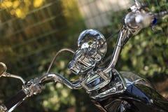 摩托车的把手 免版税库存照片