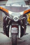 摩托车的未来派设计 免版税库存照片
