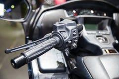 摩托车的汉德尔 库存图片