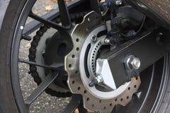 摩托车的盘式制动器 免版税库存照片