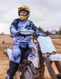 摩托车的竟赛者 免版税库存照片