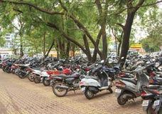 摩托车的薪水停车处 库存照片