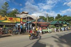 摩托车的警察在斯里兰卡 免版税库存照片