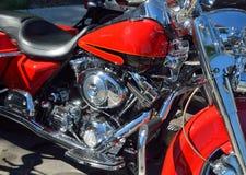 摩托车的详细资料 免版税库存图片