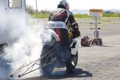 摩托车短跑竟赛者 免版税图库摄影