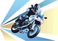 摩托车短跑 免版税库存照片