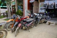 摩托车租务在巴拉望岛,菲律宾 库存图片