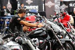摩托车立场 免版税库存照片