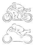 摩托车竟赛者,传染媒介例证 免版税库存图片