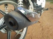 摩托车管子轮子 免版税库存图片