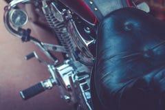 摩托车细节看法  摩托车零件特写镜头  免版税库存照片
