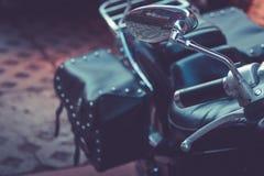 摩托车细节看法  摩托车零件特写镜头  免版税库存图片