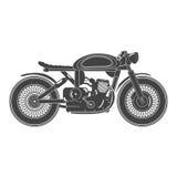 摩托车老葡萄酒 咖啡馆竟赛者题材 库存图片