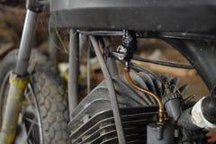 摩托车萨克斯引擎 免版税库存照片
