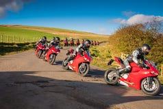 摩托车行动序列 免版税库存照片