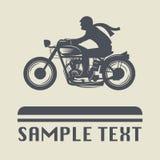 摩托车象或标志 向量例证