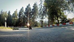摩托车赛跑 影视素材
