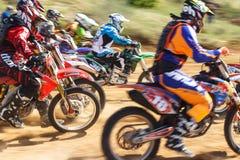 摩托车越野赛冠军2016年5月14-15 免版税库存图片