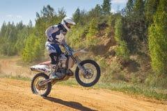 摩托车越野赛冠军2016年5月14-15 图库摄影