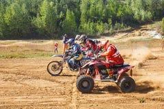 摩托车越野赛冠军2016年5月14-15 库存照片