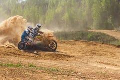 摩托车越野赛冠军2016年5月14-15 免版税库存照片