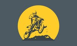 摩托车越野赛商标 皇族释放例证
