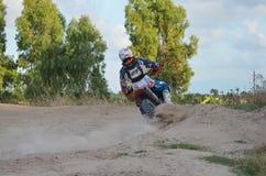 摩托车越野赛意大利Sardegna 库存图片