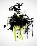 摩托车越野赛海报 库存照片