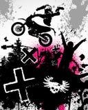 摩托车越野赛海报 库存图片