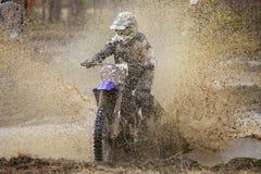 摩托车越野赛疯狂 免版税库存图片