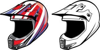 摩托车越野赛盔甲 皇族释放例证