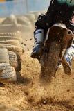 摩托车越野赛短跑 免版税库存照片