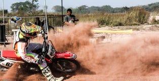 摩托车越野赛种族在里约热内卢 免版税库存图片