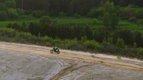 摩托车越野赛自行车乘驾 股票录像