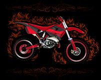 摩托车越野赛自行车rad 向量例证
