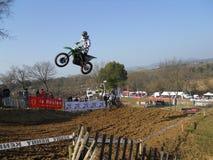 摩托车越野赛赛跑 图库摄影
