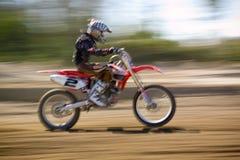 摩托车越野赛赛跑 免版税库存图片