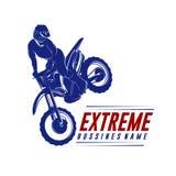 摩托车越野赛跃迁商标传染媒介 摩托车越野赛自由式传染媒介 摩托车越野赛传染媒介例证 库存图片