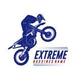 摩托车越野赛跃迁商标传染媒介 摩托车越野赛自由式传染媒介 摩托车越野赛传染媒介例证 图库摄影