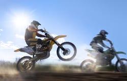 摩托车越野赛车手 免版税图库摄影