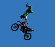 摩托车越野赛车手 免版税库存照片