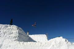 摩托车越野赛雪 免版税库存图片