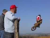 摩托车越野赛 免版税图库摄影