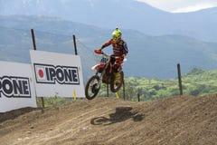 摩托车越野赛MXGP特伦托自治省2015年意大利Cairoli #222 库存照片