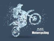 摩托车车手微粒,充分进取横跨意义传染媒介例证 向量例证