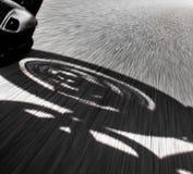 摩托车车手景色 免版税图库摄影