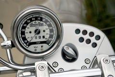摩托车车速表 免版税库存图片