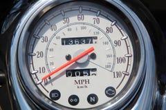 摩托车车速表 库存照片