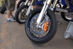 摩托车轮子 库存图片