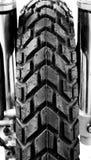 摩托车轮胎。 免版税库存照片